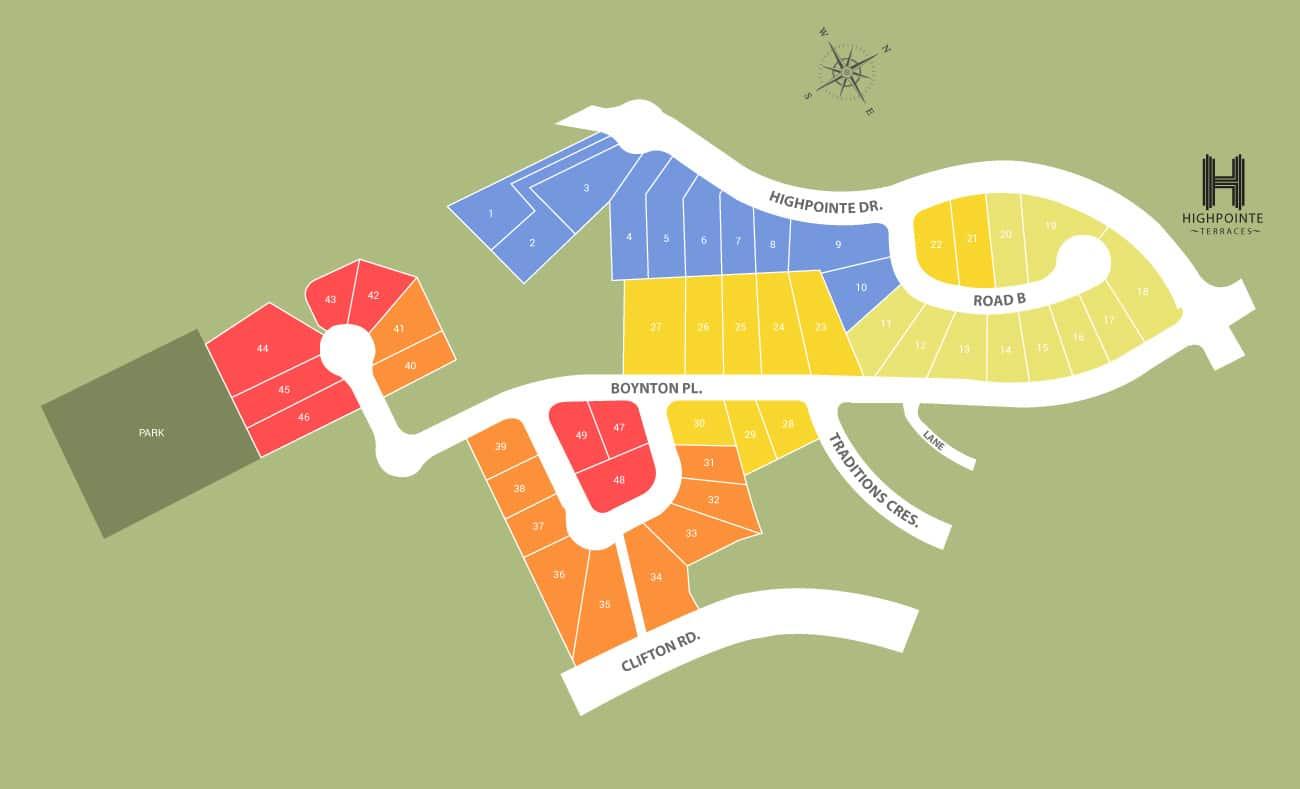 high pointe terraces - site plan