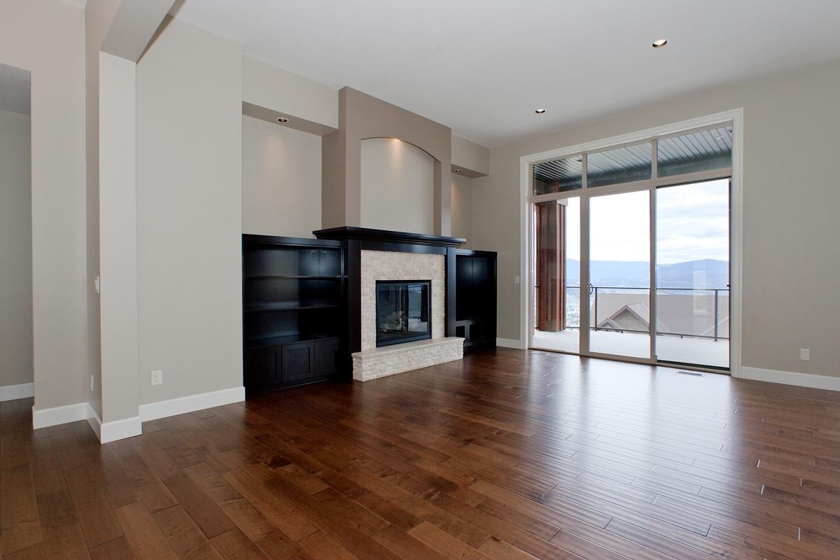 The Prestwick - Custom Home Floor Plan Fireplace Living Room