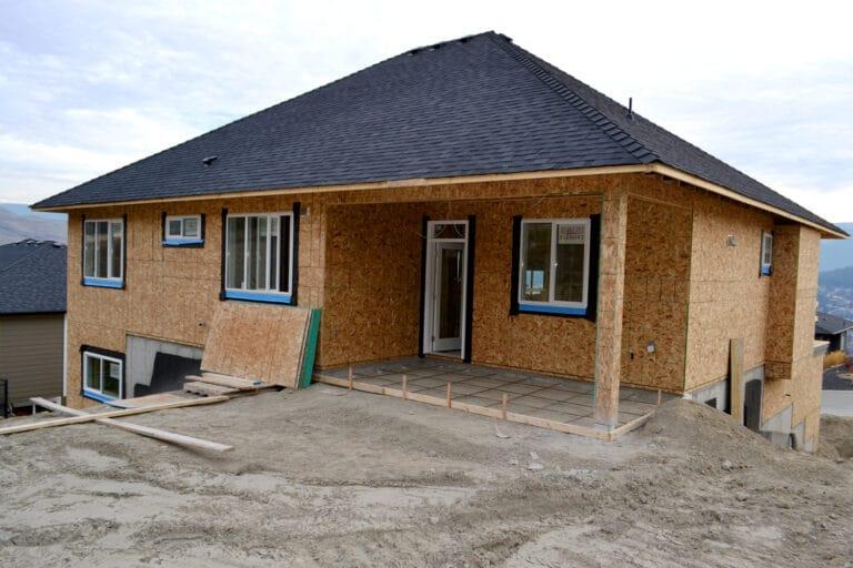 Prospect Backyard of Custom Home