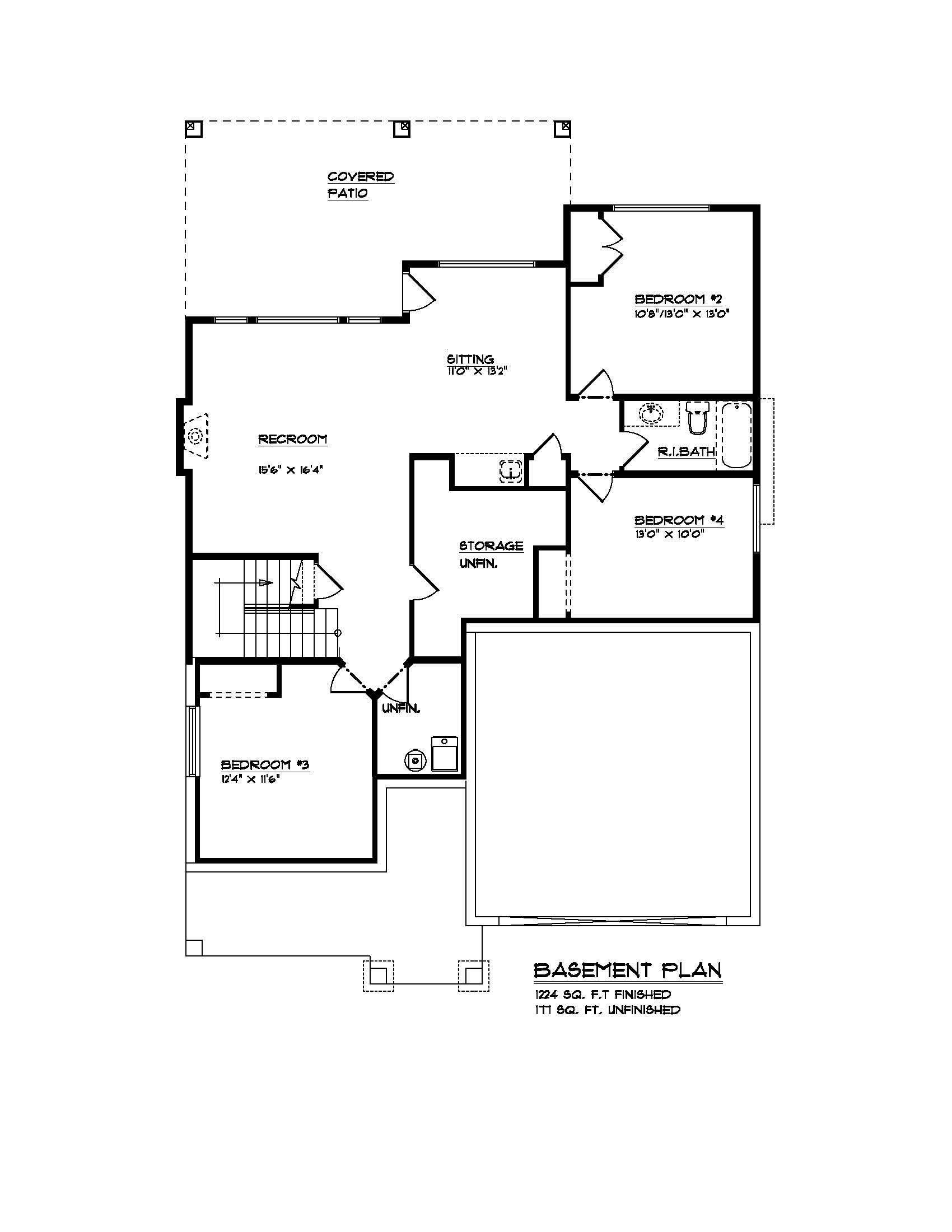 The Rindle - Custom Home Floor Plan 4